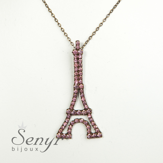Eiffel tower with crystals