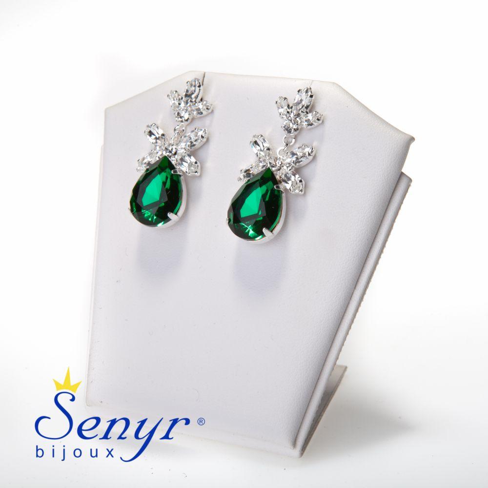 Náušnice Emeraldový poklad