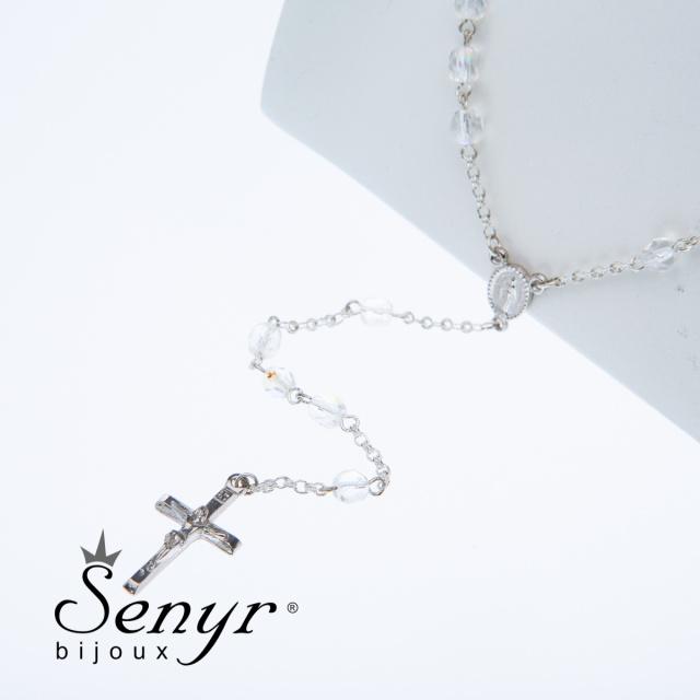 Rosary white - beads