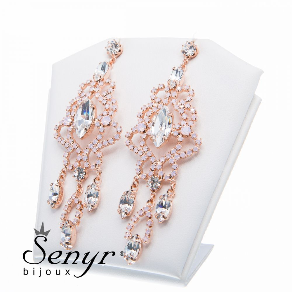 Earrings Magnificence Rose Opal