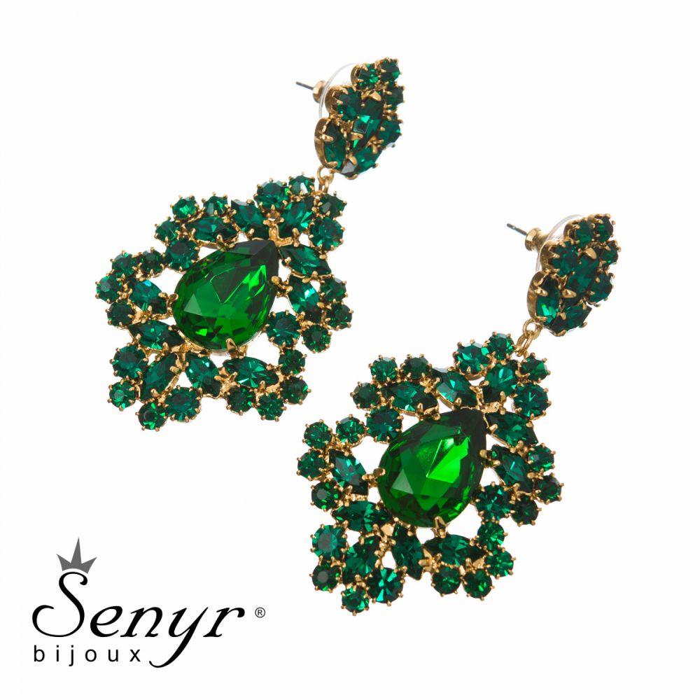 Náušnice Elegant Lace Emerald