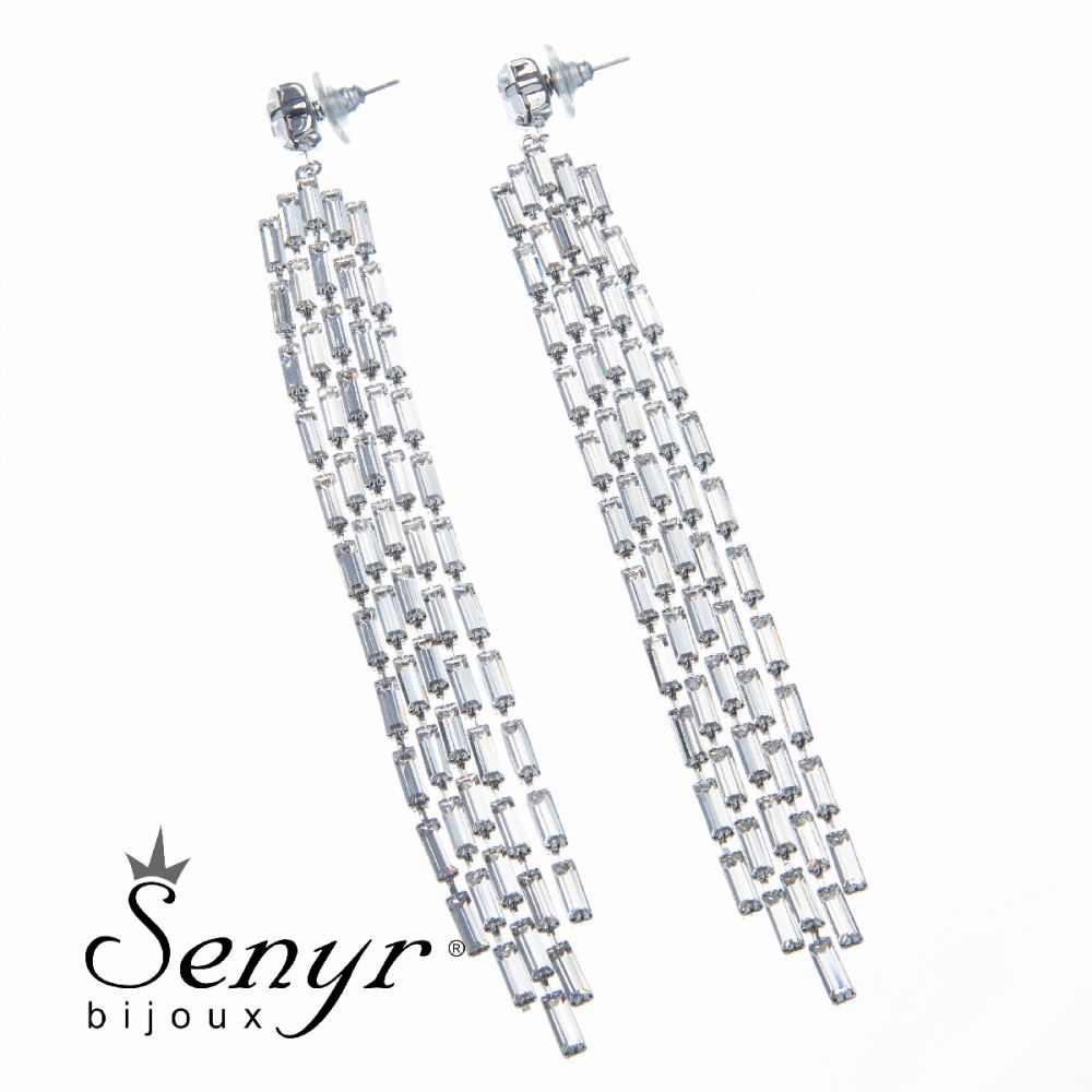 Earrings Extraordinary Splendor Rhodium