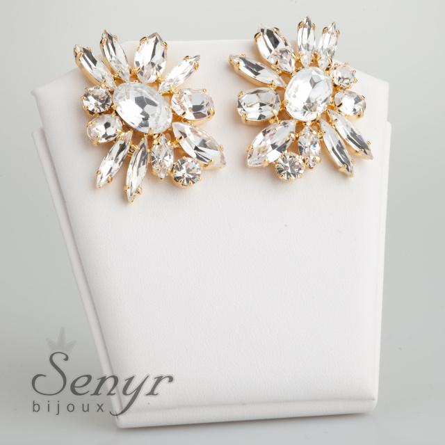 Luxusní náušnice Bloom Gold
