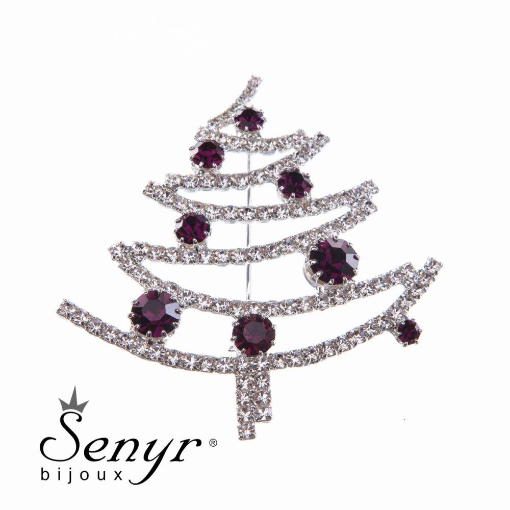 Vánoční stromeček brož