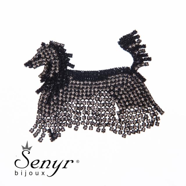 Brož Čínský chocholatý pes labutěnka