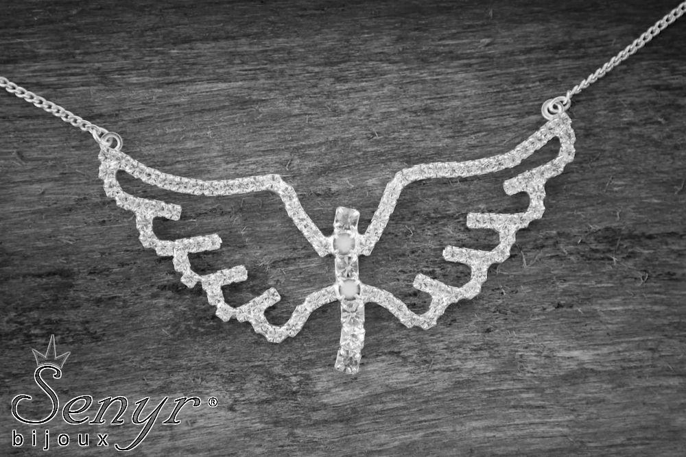 Andělská křídla s čakrovými kameny/ Angel with chakra gemstones