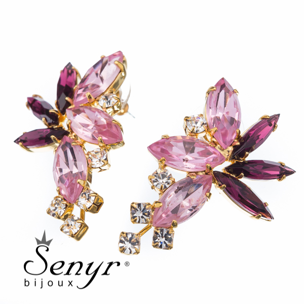 Luxusní náušnice Precious Blossom