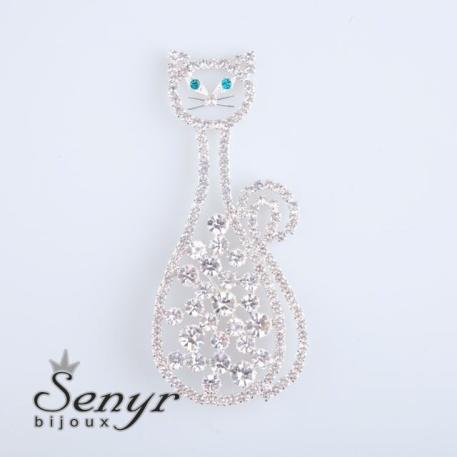Brož Elegant Cat