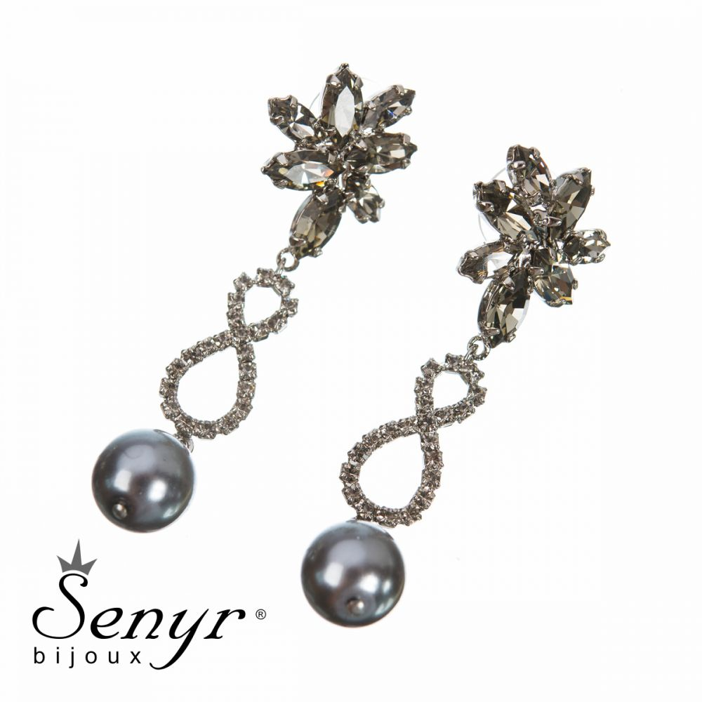 Náušnice Pearl Treasure Gray