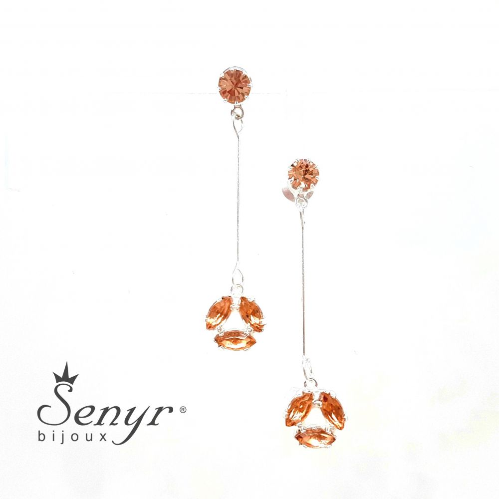 Bohemian crystal earrings Triangle