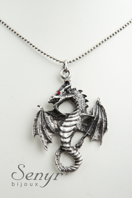 Dragon with red eyes
