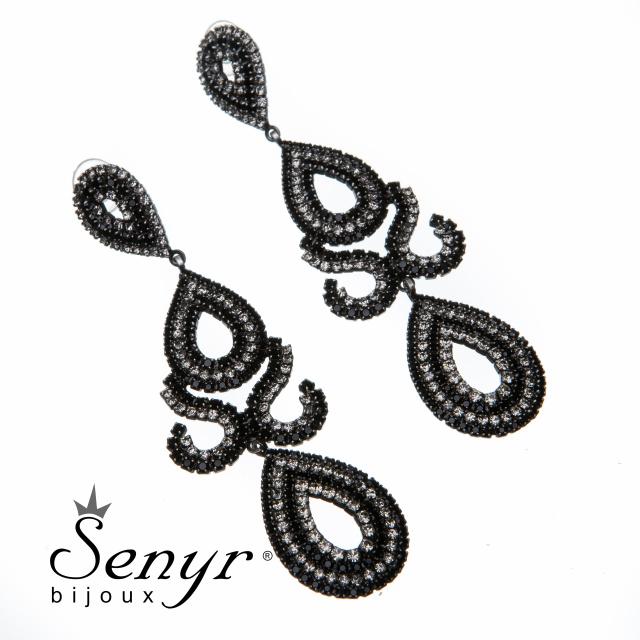 Deluxe earrings Eastern Beauty Gray
