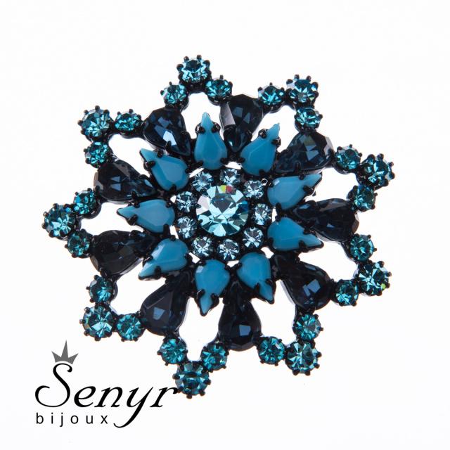 Deluxe brooch Elegance black