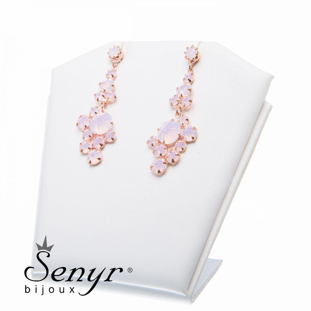 Earrings Sweet Romance Rose Opal