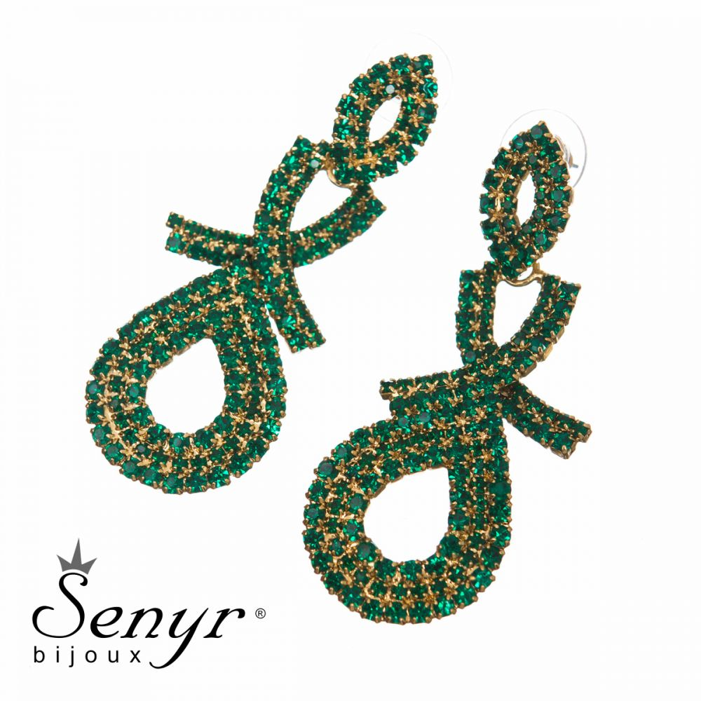 Earrings Charming Lady Emerald