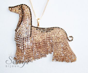 Afghan hound necklace