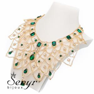 Necklace Golden Majesty Emerald