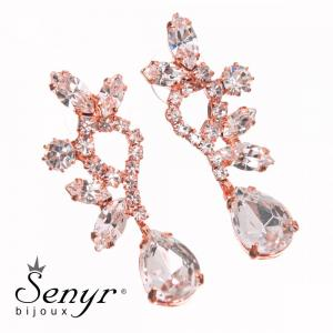 Earrings Beautiful Hour Crystal Rose